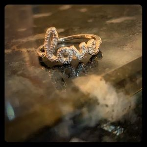 Adornia - Cursive Love Ring size 8